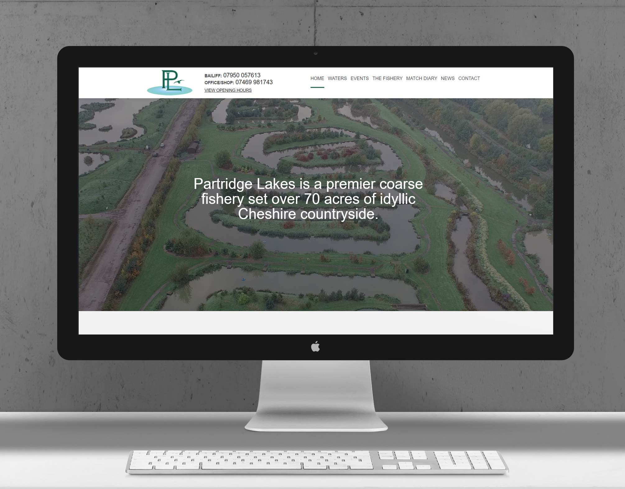 Partridge Lakes Fishery | Responsive Website Design