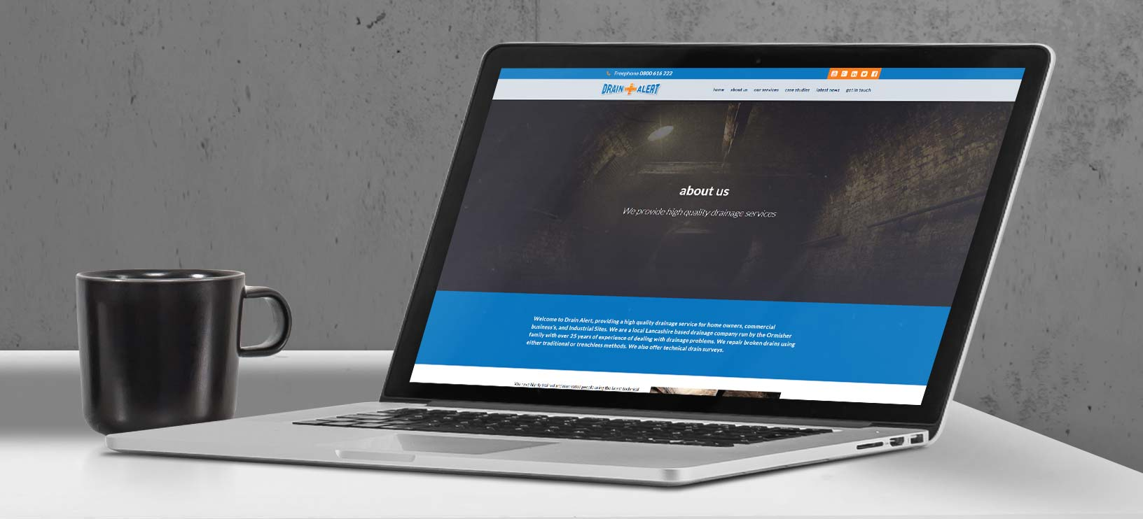 Drain Alert | Responsive Website Design