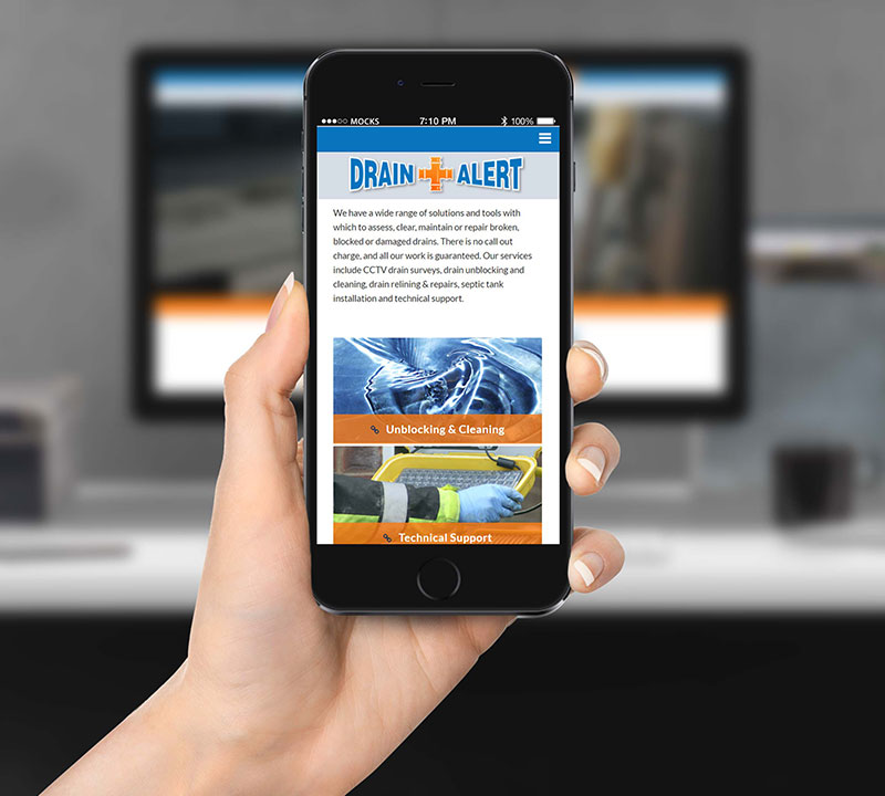 Drain Alert | Mobile Friendly Website Design