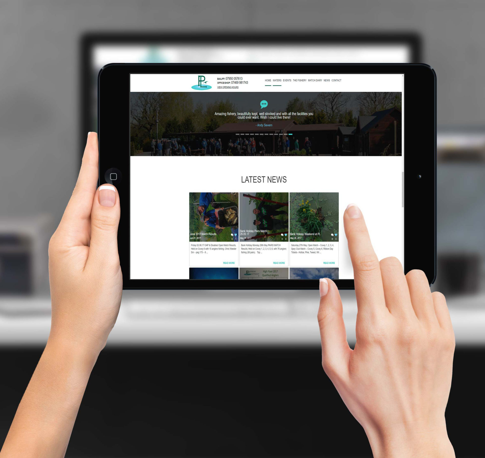 Partridge Lakes Fishery | Commercial Website Design